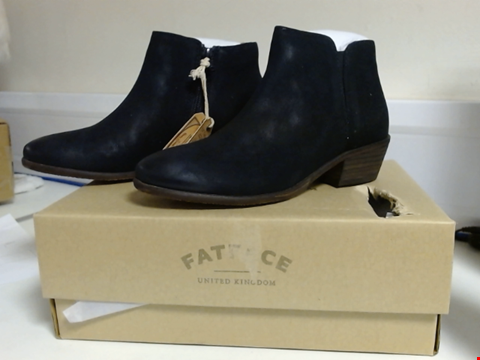 Lot 3030 BRAND NEW FATFACE LYTHAM ANKLE BOOTS - BLACK SIZE 4