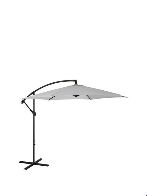 Lot 7037 BOXED GRADE 1 3M CANTILEVER HANGING PARASOL - GREY