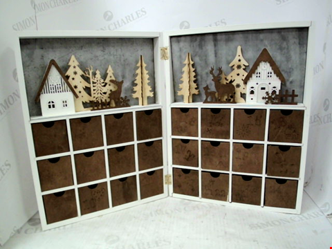 Lot 10102 WOODEN SCENE OPENING ADVENT RRP £56.99