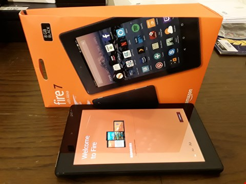 Lot 9180 BOXED AMAZON FIRE 7 WITH ALEXIA 8GB TABLET IN BLACK
