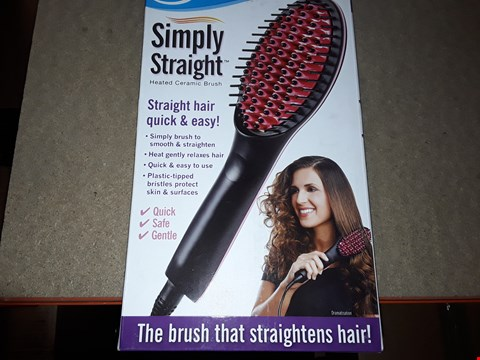 Lot 2108 BOX OF APPROXIMATELY 41 BRAND NEW SIMPLY STRAIGHT HEATED CERAMIC BRUSH