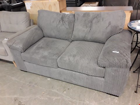 Lot 360 DESIGNER GREY JUMBO CORD 2 SEATER SOFA