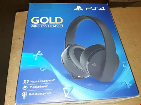 Lot 4388 SONY PLAYSTATION GOLD WIRELESS HEADSET
