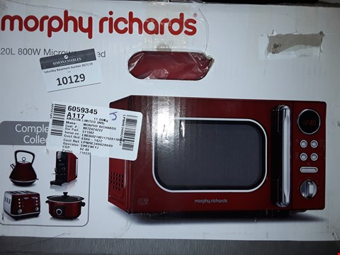 Lot 10129 MORPHY RICHARDS ACCENTS 20L 800 W MICROWAVE