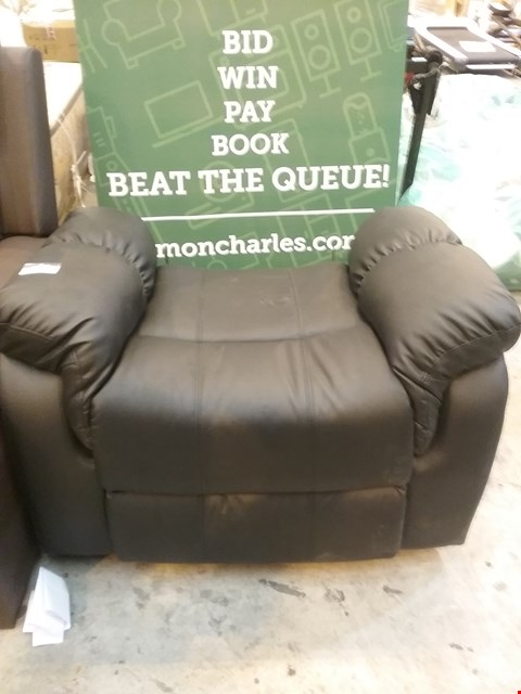 Lot 50 DESIGNER BLACK LEATHER RECLINING CHAIR BASE