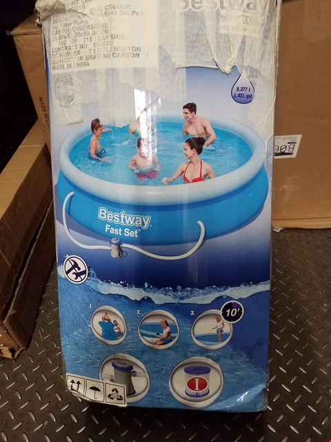 Lot 3546 BESTWAY 12ft POOL FAST SET  RRP £219.00