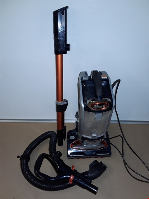 Lot 8122 UNBOXED SHARK POWERED LIFT AWAY WIRED UPRIGHT VACUUM