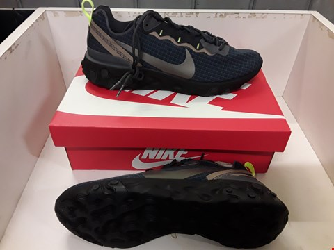 Lot 4001 PAIR OF BOXED DESIGNER TRAINERS IN THE STYLE OF NIKE REACT ELEMENT 55 SIZE UK 9