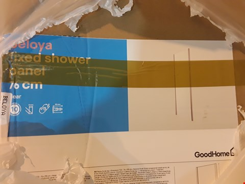 Lot 260 BOXED BELOYA FIXED SHOWER PANEL 76cm