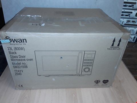 Lot 8099 SWAN SM22100B 23L MICROWAVE BLACK  RRP £109.99