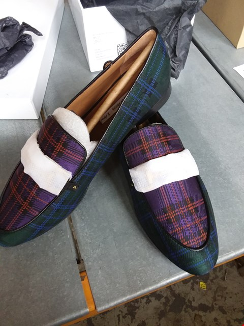 Lot 7081 & OTHER STORIES TARTAN LOAFERS - SIZE 6