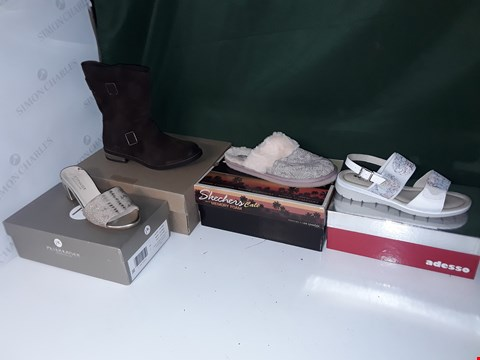 Lot 1301 LOT OF APPROXIMATELY 17 ASSORTED PAIRS OF SHOES TO INCLUDE ADESSO, PETER KAISER, SKETCHERS, CLARKS