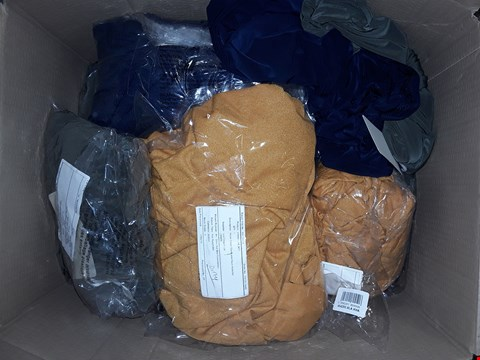 Lot 371 BOX OF APPROXIMATELY 14 ASSORTED CLOTHING ITEMS TO INCLUDE SOFT TOUCH AND CREPE DRESSES