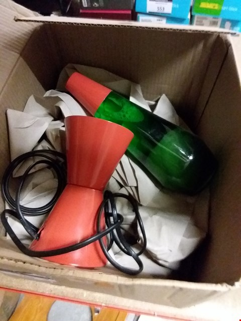 Lot 900 BOXED LAVA LAMP - ORANGE/GREEN
