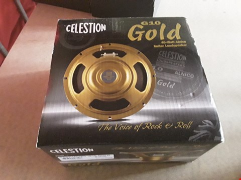 Lot 16 BOXED CELESTION G10 GOLD 40 WATT ALNICO GUITAR LOUDSPEAKER