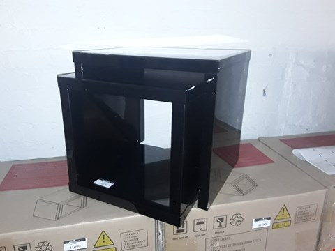Lot 41 ECHO BLACK NEST OF TABLES RRP £259