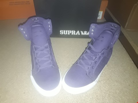 Lot 2126 LOT OF 6 BRAND NEW SUPRA KIDS SKYTOP PURPLE-WHITE SHOES SIZE 4.5 RRP £78