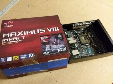 Lot 1019 ASUS MAXIMUS VIII IMPACT MOTHERBOARD