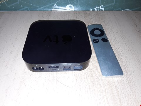 Lot 8264 APPLE TV BOX WITH REMOTE - A1378