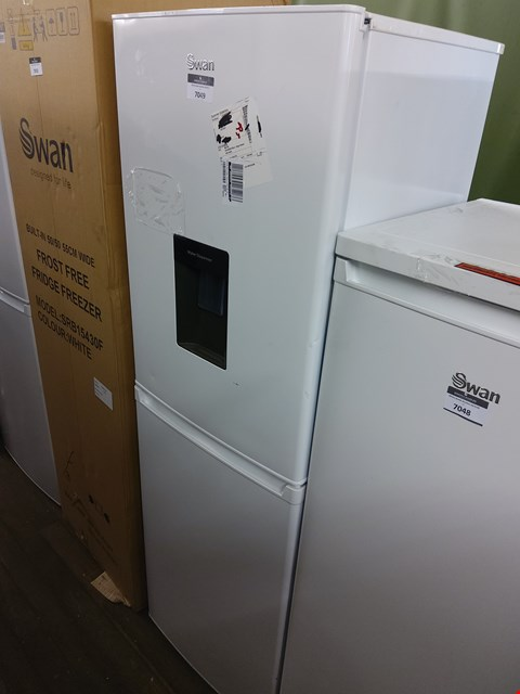 Lot 7049 SWAN WHITE 55CM FRIDGE FREEZER WITH WATER DISPENSER