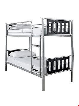 Lot 248 BOXED KIDSPACE CYBER BLACK BUNK BED FRAME (1 BOX) RRP £299.99