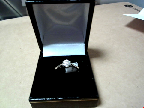 Lot 5507 9 CARAT WHITE GOLD 50PT DIAMOND CERTIFIED SOLITAIRE RING RRP £2249.00