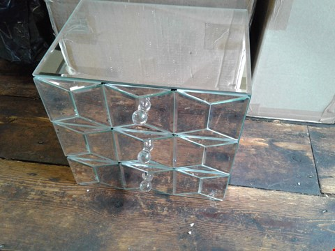 Lot 73 A MIRRORED 3 DRAWER CHEST