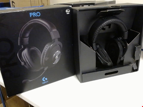 Lot 15239 LOGITECH G PRO X GAMING HEADSET (2ND GENERATION) WITH BLUE VO!CE, DTS HEADPHONE:X 7.1 AND 50 MM PRO-G DRIVERS (FOR PC, PS4, SWITCH, XBOX ONE, VR) - BLACK