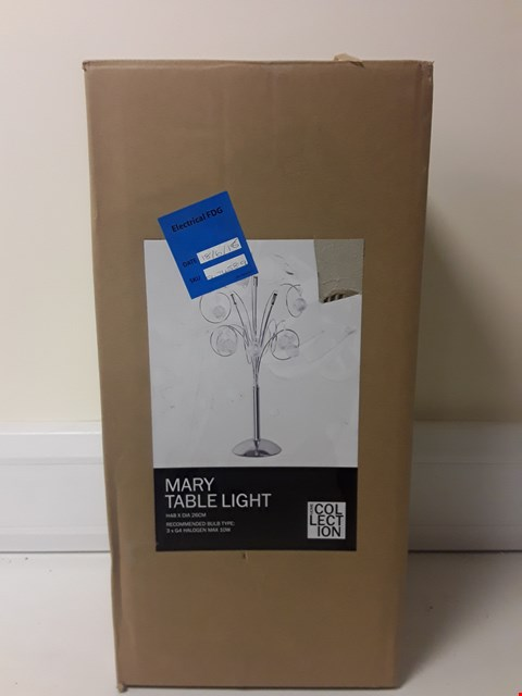 Lot 6055 BOXED MARY TABLE LIGHT