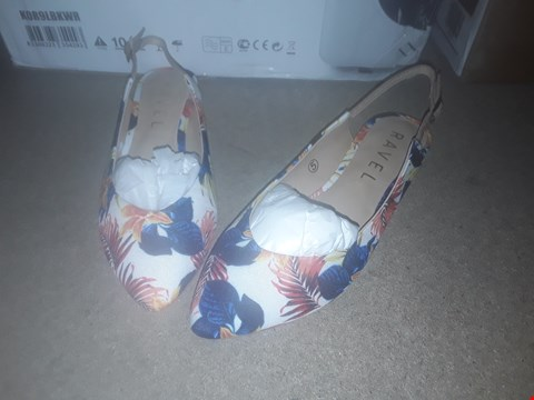 Lot 2235 LOT OF 6 BRAND NEW RAVEL SLING BACK BALLET SHOES FLORAL MULTICOLOURED - VARIOUS SIZES RRP £114