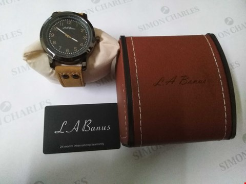 Lot 57 BRAND NEW BOXED L.A BANUS SAND STRAP WRIST WATCH