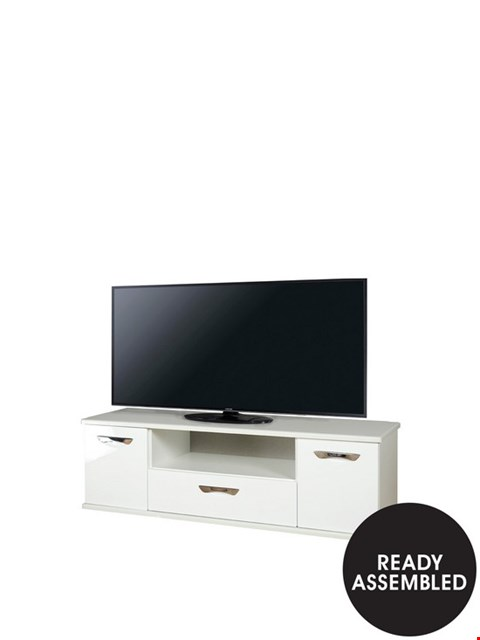Lot 2058 BOXED GRADE 1 WHITE GLOSS TV UNIT ( 1 BOX )
