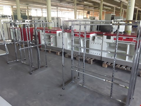 Lot 2014 2 X METAL DISPLAY FRAMES WITH RAILINGS