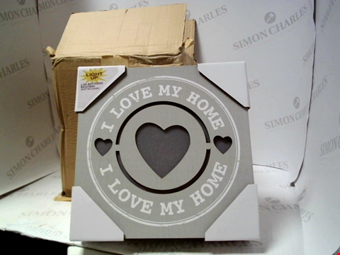 Lot 5034 LOT OF 4 ILLUMINATED I LOVE MY HOME SIGNS