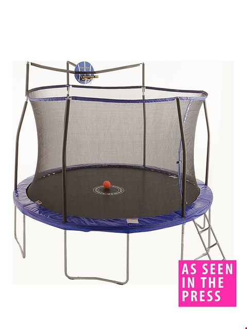 Lot 3015 BOXED 12FT EASY-STORE TRAMPOLINE WITH SLAMA JAMA LADDER AND COVER  RRP £359.99