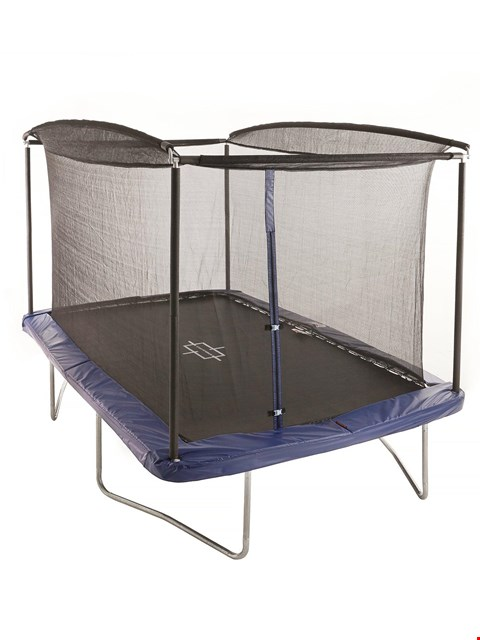 Lot 3046 BOXED SPORTSPOWER 8FT X 6FT RECTANGULAR TRAMPOLINE WITH EASI-STORE (1 BOX) RRP £229.99