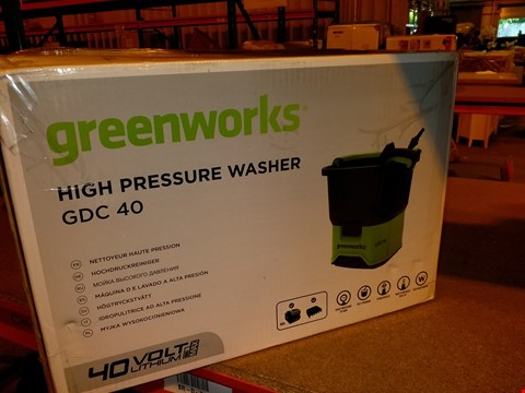 Lot 6093 GREEN WORKS GDC40 70BAR PRESSURE WASHER