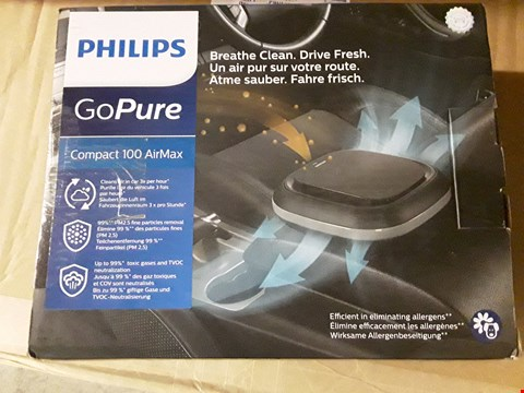 Lot 10383 PHILIPS GO PURE COMPACT 100 AIR MAX