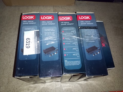 Lot 6319 5 ASSORTED LOGIK POWER ADAPTERS