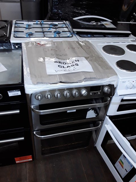 Lot 12027 HOTPOINT ULTIMA HUI614K 60CM ELECTRIC COOKER WITH DOUBLE OVENS & INDUCTION HOB