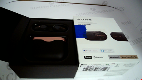 Lot 17315 SONY WF-1000XM3 TRULY WIRELESS NOISE CANCELLING HEADPHONES, UP TO 32H BATTERY LIFE, STABLE BLUETOOTH CONNECTION, WEARING DETECTION