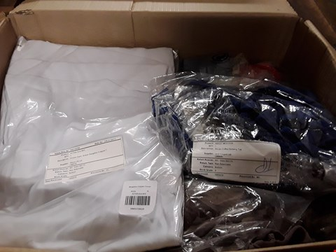 Lot 1327 BOX OF APPROX 22 ASSORTED ITEMS OF CLOTHING TO INCLUDE NICOLE CUFFED BATWING TOP, EMELIA SUPERSTRETCH BENGALINE CROPPED TOP ETC