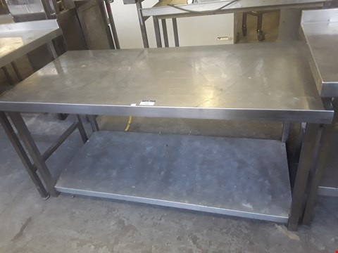 Lot 27 LOW WORK TABLE WITH UNDERNEATH SHELF