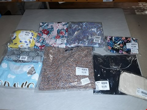 Lot 3056 LARGE QUANTITY OF ASSORTED CLOTHING ITEMS TO INCLUDE ME TO YOU PJ SETS, TWIST JUMPER WITH BUTTONS AND SUMMER DAISY SKIRTED SWIMWEAR (4 BOXES)