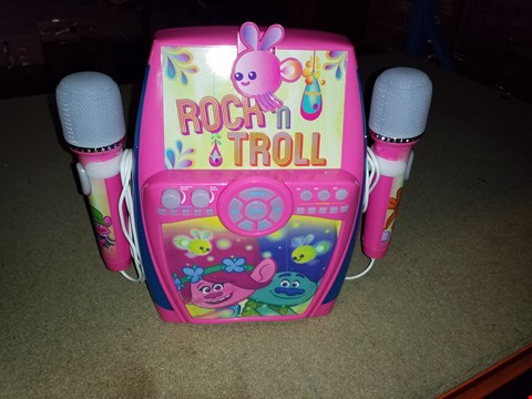 Lot 2418 Trolls - Deluxe Sing-Along Boombox with Dual Microphones RRP £60.00