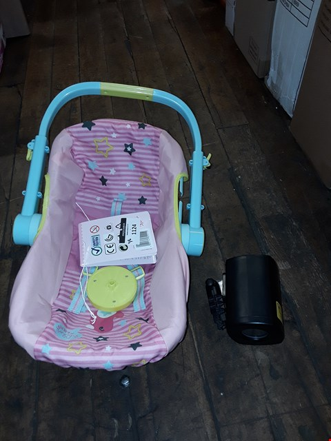 Lot 1124 LOT OF 2 ITEMS TO INCLUDE BABY BORN COMFORT TRAVELSEAT, LASER LIGHT RRP £98