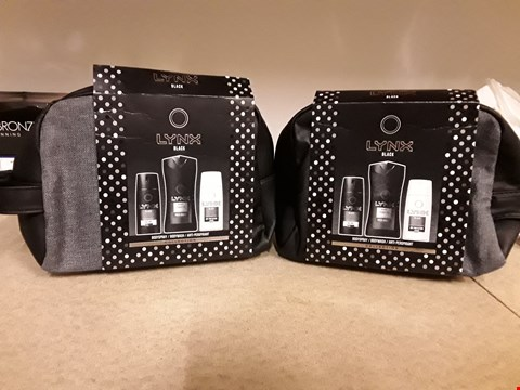 Lot 2053 LOT OF 2 LYNX BLACK GIFT SETS CONTAINING BODY SPRAY, BODY WASH AND ANTI-PERSPIRANT