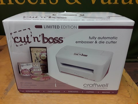 Lot 6106 BOXED LIMITED EDITION CRAFTWELL CUT 'N' BOSS ALL-IN-ONE EMBOSSER AND DIE CUTTER