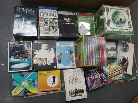 Lot 12011 A BOX OF APPROXIMATELY 18 ASSORTED DVD/BOXSETS TO INCLUDE A HARRY POTTER FILM COLLECTION AND A ROCKY ANTHOLOGY