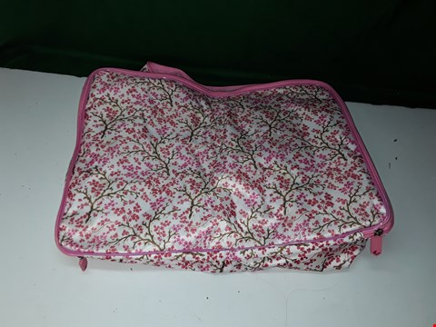 Lot 1372 THE CAMOUFLAGE COMPANY EXPANDING STORAGE CHEST PINK FLORAL